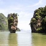 reisebericht thailand, james bond island, felsen, khao phing kan, krabi, phuket, sehenswuerdigkeit, sightseeing, tourismus, suedostasien, asien